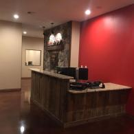 Make a lasting impression on potential clients with this custom designed front desk!